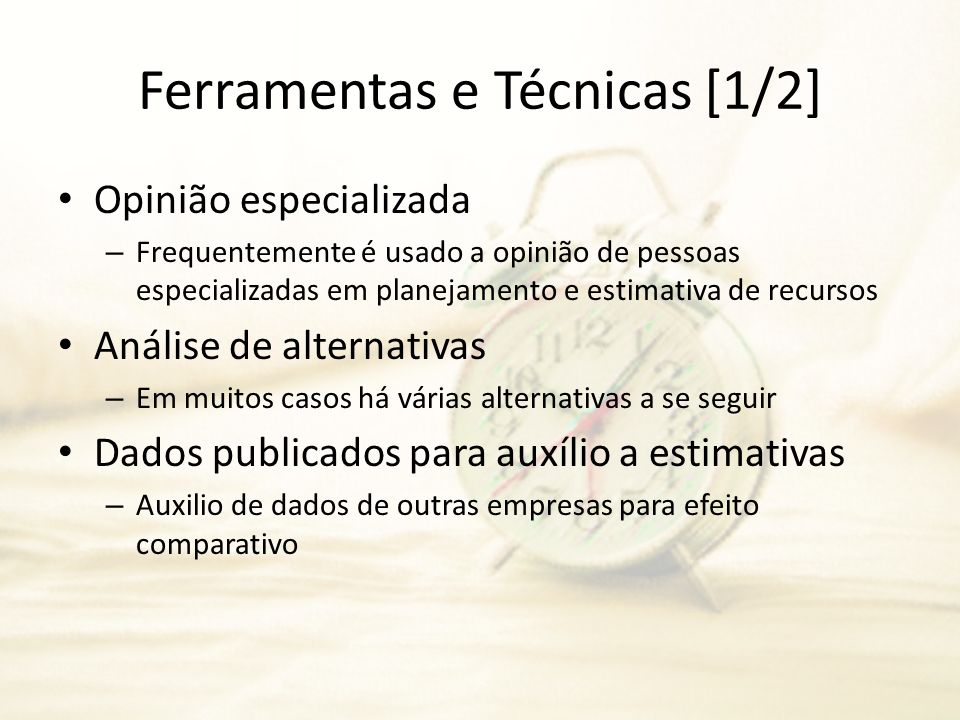 Ferramentas e Técnicas [1/2]